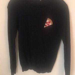 """J Crew Navy """"Pizza"""" Sweater"""